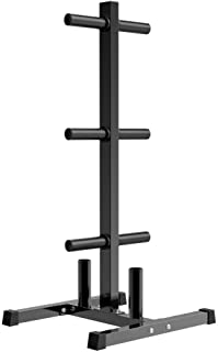 Olympic Weight Plate Rack Langhantelplatten EIN Rahmenregal Standard Weight Plates Aufbewahrungsst/änder iBaste Langhantel St/änder