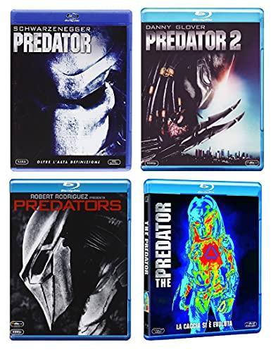 PREDATOR COLLECTION (4 FILM IN BLU-RAY) EDIZIONE ITALIANA CONTIENE: - PREDATOR (1987) - PREDATOR 2 (1991) - PREDATORS (2010) - THE PREDATOR (2018)