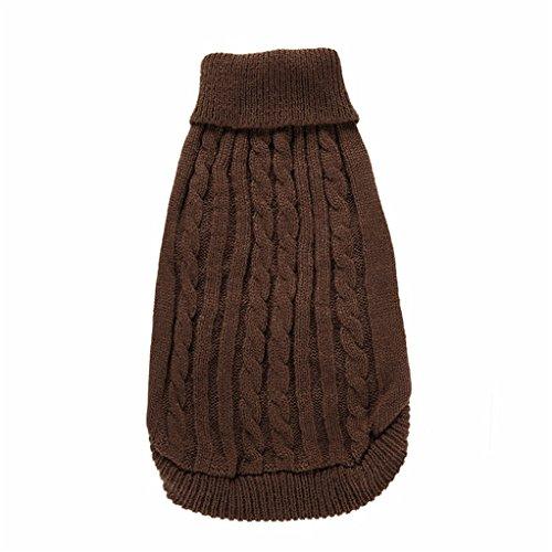 Maglioncino lavorato a maglia per cucciolo di cane o gatto, caldo indumento invernale per animale domestico