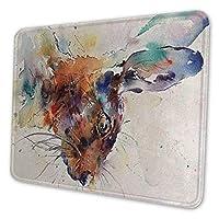 ゲーミングマウスパッド - ウサギ バニー マウスパッド おしゃれ ゲームおよびオフィス用/防水/洗える/滑り止め/ファッショナブルで丈夫 25x30cm