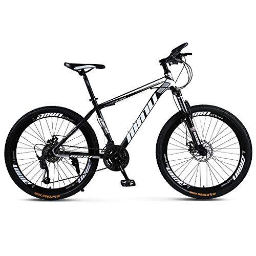 Ydshyth 26-Zoll-Mountainbike Mit Vollfederung, 21-30 Fach Rutschfester Doppelscheibenbremse Stoßdämpfendes Anti-Rutsch-Mountainbike Für Männer Und Frauen,Schwarz,30 Speed