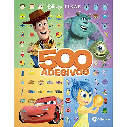 500 ADESIVOS DISNEY PIXAR