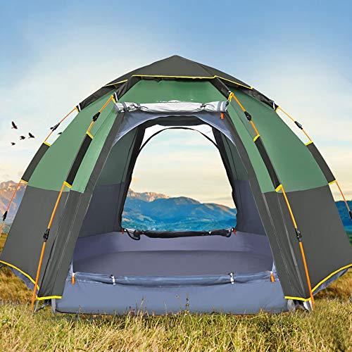 Quick Automatic Open Tent, 3-8 Persoon Double Layer Large Camping Family Buitenrecreatie Partytenten Luifel Tent van het strand