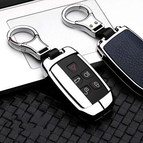 Funda para llave de coche, para Land Rover A9 Freelander Evoque Discovery 4 5 Sportlr4 Jaguar Xk Xkr Xf Xj Xjl A-Silver Blue