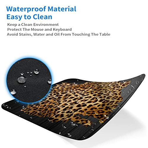 Gaming Mouse Pad, Leopard Grain Mouse Pads for Laptop Non-Slip Rubber Base Mousepad Computers and Office, Rectangle Cute Mouse Mats and Be Happy Computer Stickers Photo #6