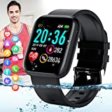 Peakfun Smart Watch,Fitness Watch Activity Tracker with Heart Rate Blood Pressure Monitor Bluetooth Smartwatch IP67 Waterproof Sports Tracker Watch Touch Screen for Men Women Kids Android iOS Phones