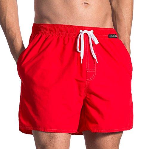 Olaf Benz Herren BLU1661 Shorts Badeshorts, Rot (Mars 3018), Small