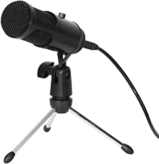 USB Condenser Microphone Plug and Play Computer Mic with Control for Gaming Recording Live Streaming