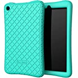 Bear Motion Silicone Case for All-New Fire 7 Tablet - Anti Slip Shockproof Light Weight Kids Friendly Protective Case for Fire 7 (ONLY for 9th Generation 2019 Model) - Turquoise