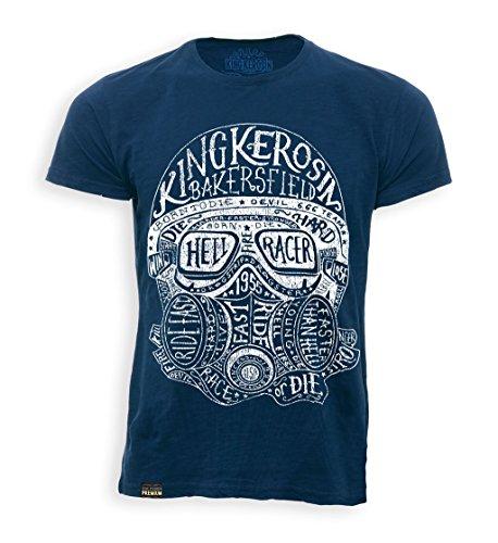 King Kerosin T-Shirt Hellracer Blue-S