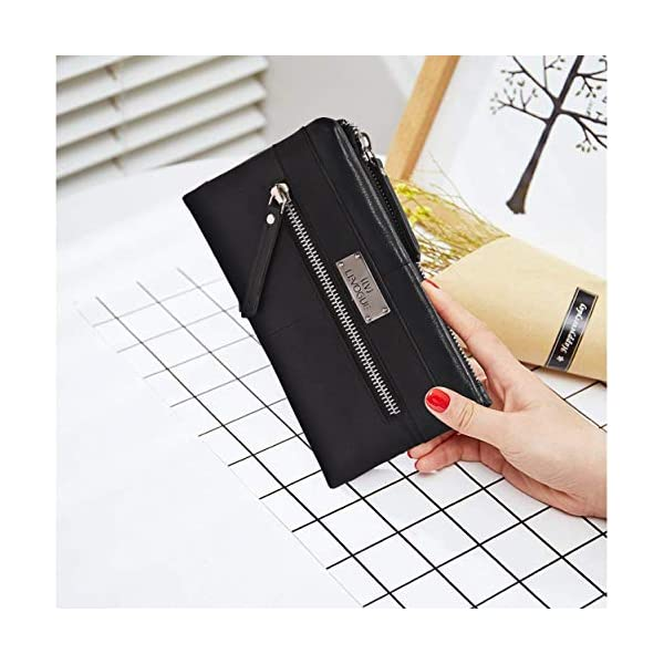 RFID Soft Flexible Leather Wallet for Women-Credit Card Slots, Mobile case Coin Purse with ID Window – Handmade by LEVOGUE