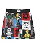 LEGO Star Wars Boy's Swim Trunks Swimwear (10-12, Black/Multi)