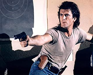 Lethal Weapon Featuring Mel Gibson 11x14 Promotional Photograph points gun