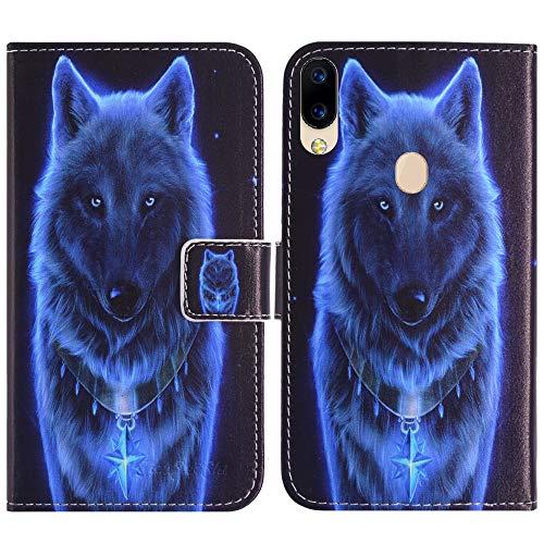 TienJueShi Wolf Flip Book Stand Brieftasche Leder Tasche Schütz Hülle Handy TPU Silikon Hülle Für Archos Oxygen 63 6.26 inch Abdeckung Wallet Cover Etüi
