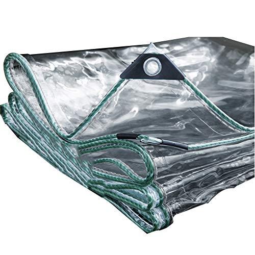 LRZLZY Lona Impermeable for Trabajo Pesado Transparente Cortina de Tela a Prueba de Lluvia Espesa el Aislamiento Suave Espesor de 0,45 mm, 16 tamaños, Personalizable (Color : Clear, Size : 2.8X3.8M)