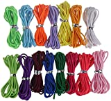32 Yards 2mm Elastic Band Cord Bracelet String Rubber Rope 5 Colors 6.6ft/pcs for Bracelet,Beading,Jewelry Making by CCINEE