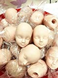 10pcs Soft Plastic Toy Practice Makeup Doll Head 1/6 White Double-fold Eyelid DIY Heads for BJD Make Up