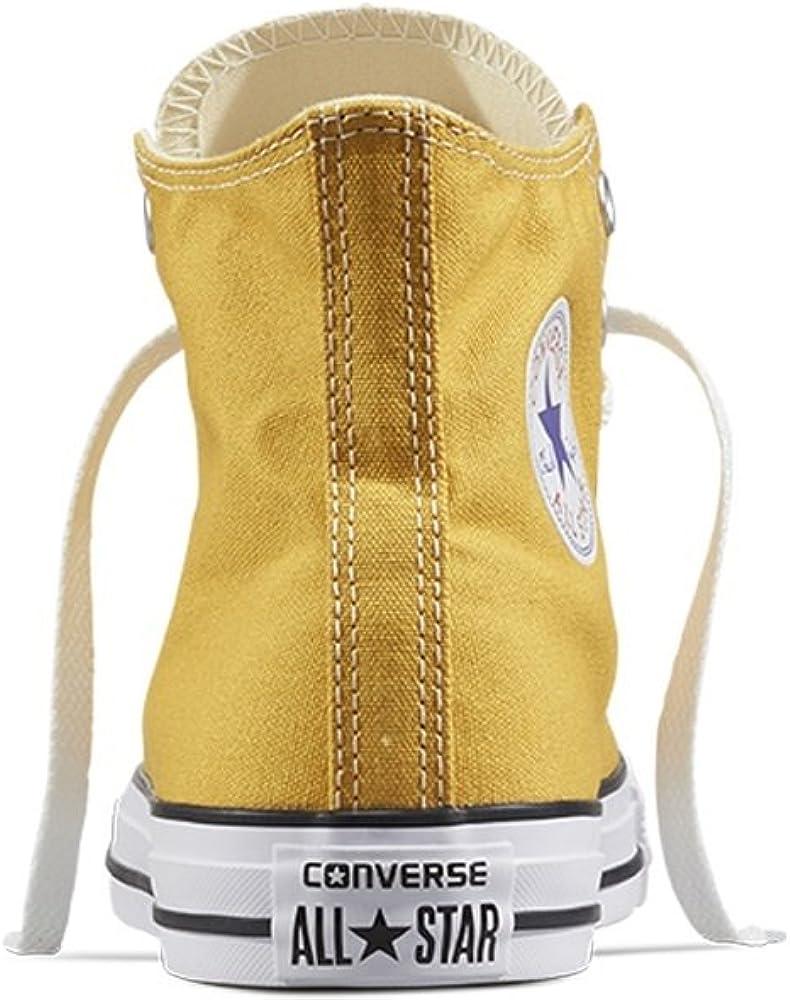 Converse All Star Hi Canvas, Baskets Mixte Arancione Solar Orange