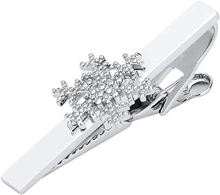 NObrand Clip de Collar Simple de Metal, Clip de Corbata para Hombres y Mujeres, Gemelos, Pin de Instrumento Musical de Copo de Nieve, Clip de Corbata
