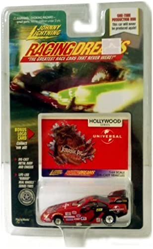 RACING DREAMS Hollywood Series Universal JURASSIC PARK THE RIDE 1 64 scale die-cast Dragster  Johnny Lightning by Racing Dreams Johnny Lightning