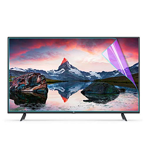 Protector de Pantalla de TV de 32-75 Pulgadas - Antideslumbrante/Anti luz Azul/Antiarañazos, Alivia la Fatiga Ocular para LCD/LED/OLED y QLED 4K HDTV,55'(1211 * 682mm)