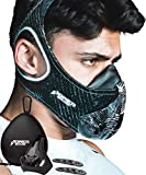 Training Mask Workout Resistance Breathing Trainer Reflective with Air Filters, Bonus Case & Cover Boost Your Endurance Exercise in Fitness Gym Outdoor Sports Running Gear for Men Women [16 Levels]