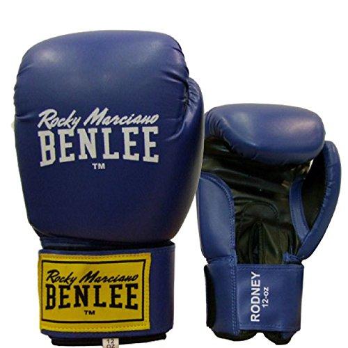 BENLEE Boxhandschuhe Rodney PU Training Gloves - Blue/Black Größe 14