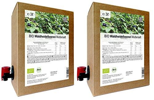 BIO Waldheidelbeeren Muttersaft - 100{c010e7ddff3a4847ceeb43e6e2f0e686d2c749e3571388636376bca9055342c6} Direktsaft 6 Liter ( 2 x 3 Liter )