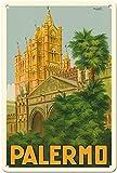 Hunnry Palermo Poster Metall Blechschilder Retro Dekoration