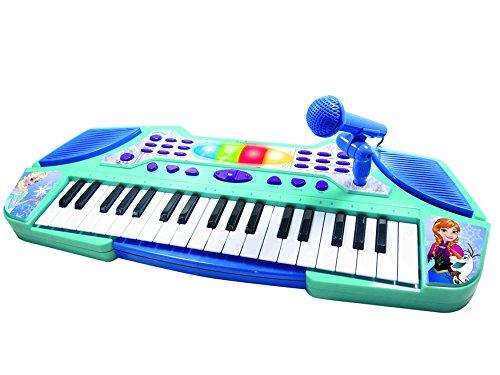 Lexibook Disney, La Reine des Neiges-Clavier Electronique avec Micro, piano lumineux à partir de 4 ans K710FZ