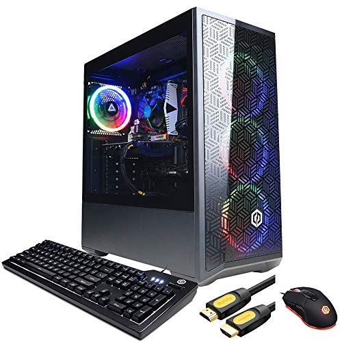 CyberpowerPC Gamer Xtreme VR Gaming Desktop, Intel Core i5-10400F Six-Core up to 4.30 GHz, GTX 1660 Super 6GB GDDR6, 32GB RAM, 1TB SSD+1TB HDD, WiFi, Mytrix HDMI Cable, Win 10