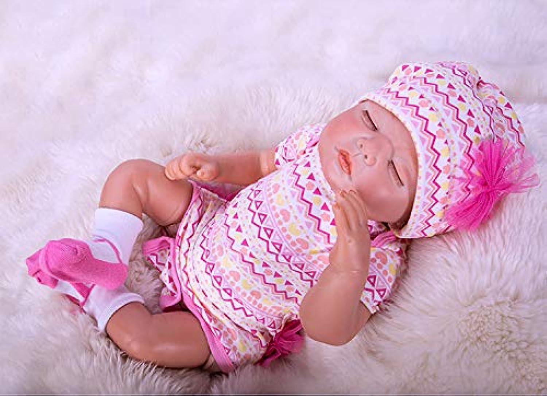20inch 50cm Sleeping Lifelike Newborn Dolls Realistic Soft Vinyl Silicone Cute Reborn Baby Doll Pink Clothes Xmas Gift Birthday Gift