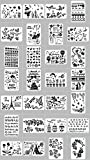 FADACAI 28 Stück Zeichenschablonen Papierschablonen DIY Schablonen für Kinder