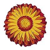 pad - Sunflower - Kissenhülle - Polyester - Orange - D 35cm - Lieferung erfolgt OHNE Füllung!