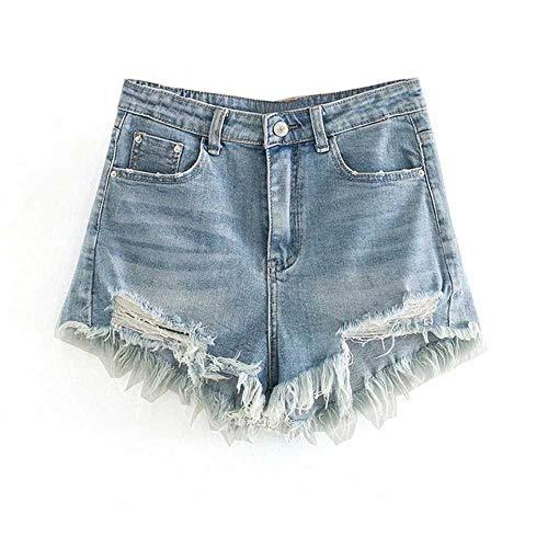 NOBRAND - Pantalones cortos de verano para mujer, estilo casual, cintura alta, para calle