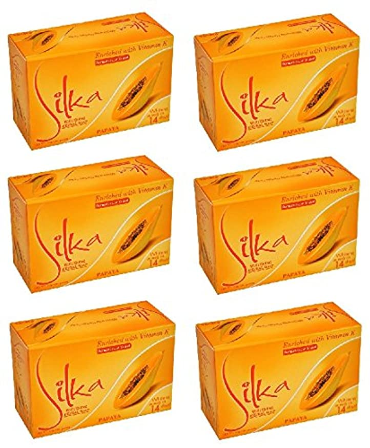 相談暴力やさしいシルカ パパイヤソープ 135g Silka Papaya Soap (6個セット)