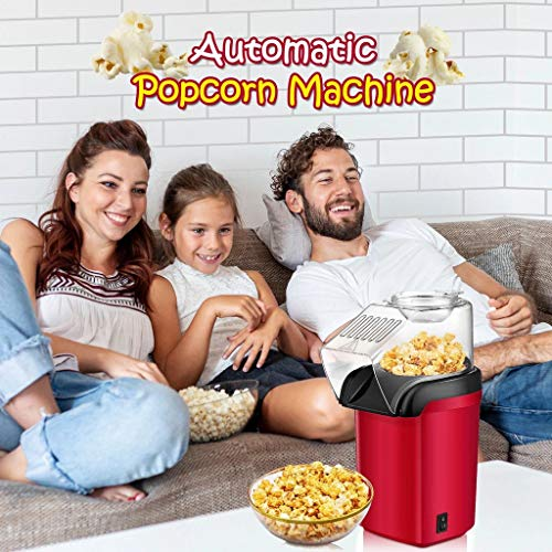 Best Price Automatic Popcorn Machine with Measuring Cup, 1200W Mini Portable Hot Air Popcorn Popper ...