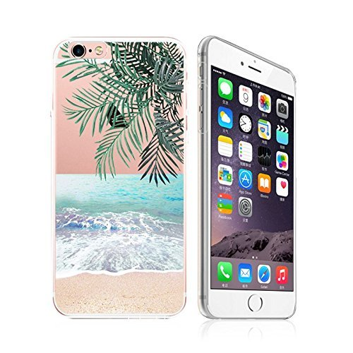 deco fairy iphone 6 case rubbers iPhone 6 / 6S, Ultra Slim Silicone Rubber Flexible Gel Case Cover - Pleasant Beach View