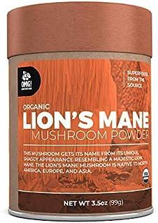 OMG! Superfoods Organic Lion's Mane Mushroom Powder - 100% Pure, USDA Certified Organic Lion's Mane Mushroom Powder – 3.5oz