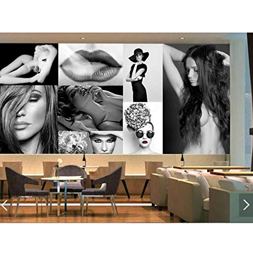 Black White Sex Girl Wall Murals Wallpaper,HD Printed Photo Wall Murals,Bedroom Living Room Wall Paper Roll Wall Covering 280 cm (W) x 180 cm (H)