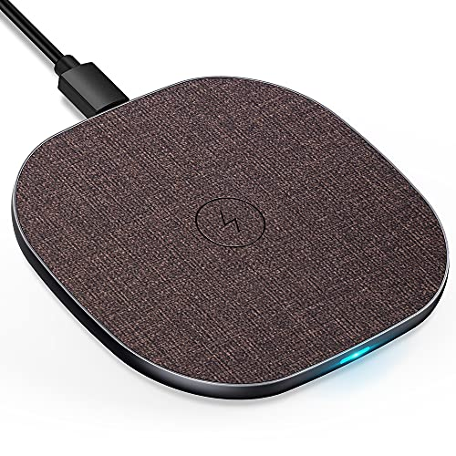 LUXSURE Wireless Charger Qi Ladestation Kabelloses Schnellladestation, Qi Ladestation für iPhone 12/11/11 Pro/X, Wireless Charge für Samsung Galaxy S20/S10/S9/S8, Induktive Ladestation für Huawei