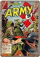 Fightin' Army 金属板ブリキ看板警告サイン注意サイン表示パネル情報サイン金属安全サイン