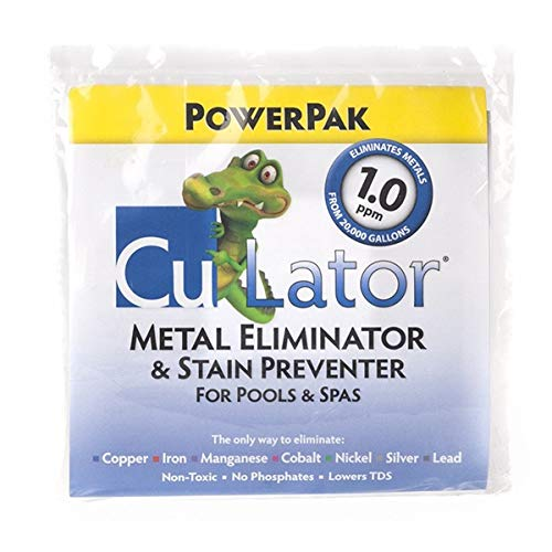 CuLator PowerPak 1.0 Metal Eliminator & Stain Preventer Single Pack - Hot Tub, Spa & Swimming Pool Water Chemical Treatment