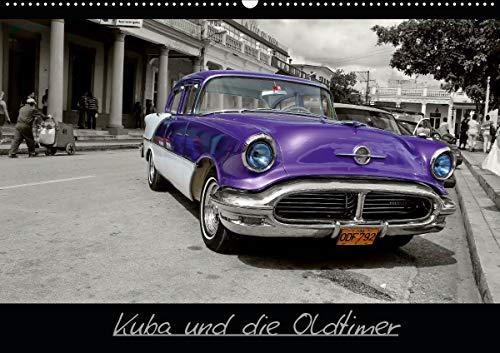 Kuba und die Oldtimer (Wandkalender 2021 DIN A2 quer)