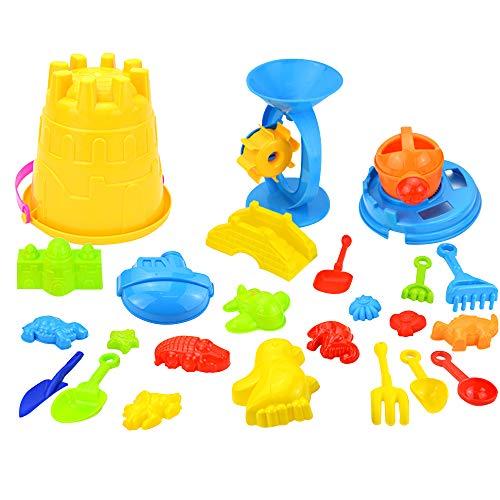 Docooler Kinder Strand Sand Spielzeug Set tragbare Sand Wasser Rad Eimer Schaufeln Rechen Gießkanne Formen Strand Werkzeug Kit Sandkasten Spielzeug für Kinder, Christams oder Geburtstagsgeschenke