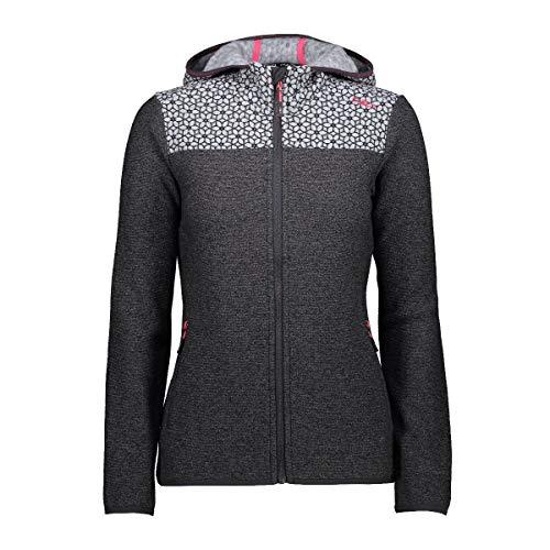 CMP Woman Fix Hood Jacket Knitted 31H8336 Größe 42 Nero U901