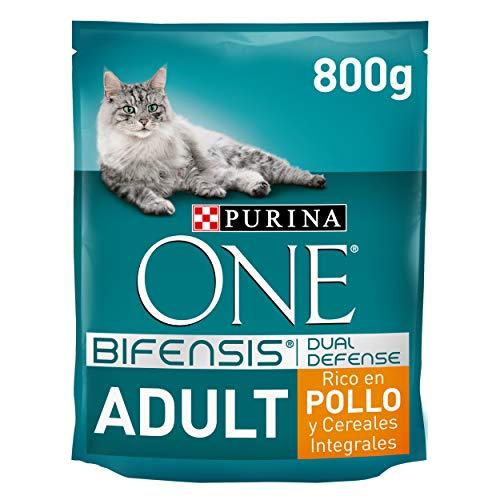 PURINA ONE Bifensis Pienso para Gato Adulto Pollo y Cereales 8 x 800 g 🔥