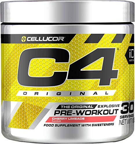 C4 Original Pre Workout Powder Cherry Limeade | Preworkout Energy Drink Supplement | 150mg Caffeine + Beta Alanine + Creatine Monohydrate | 30 Servings