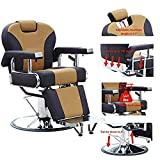 Walcut Barbershop Hydraulic Recline Barber Chair Hairdressing Reclining Chair for Salon Shampoo Beauty Spa Equipment Hair Cutting Beauty Styling Chair