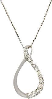 Popleys 18KT White Gold and Diamond Pendant (AM19)